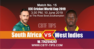 2019 World Cup Match Prediction Tips by Experts SA vs WI