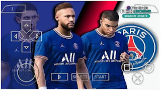 Download PES 2022 PSG Edition PPSSPP LITE 300 MB New Update Transfer & Best Graphics Real Face