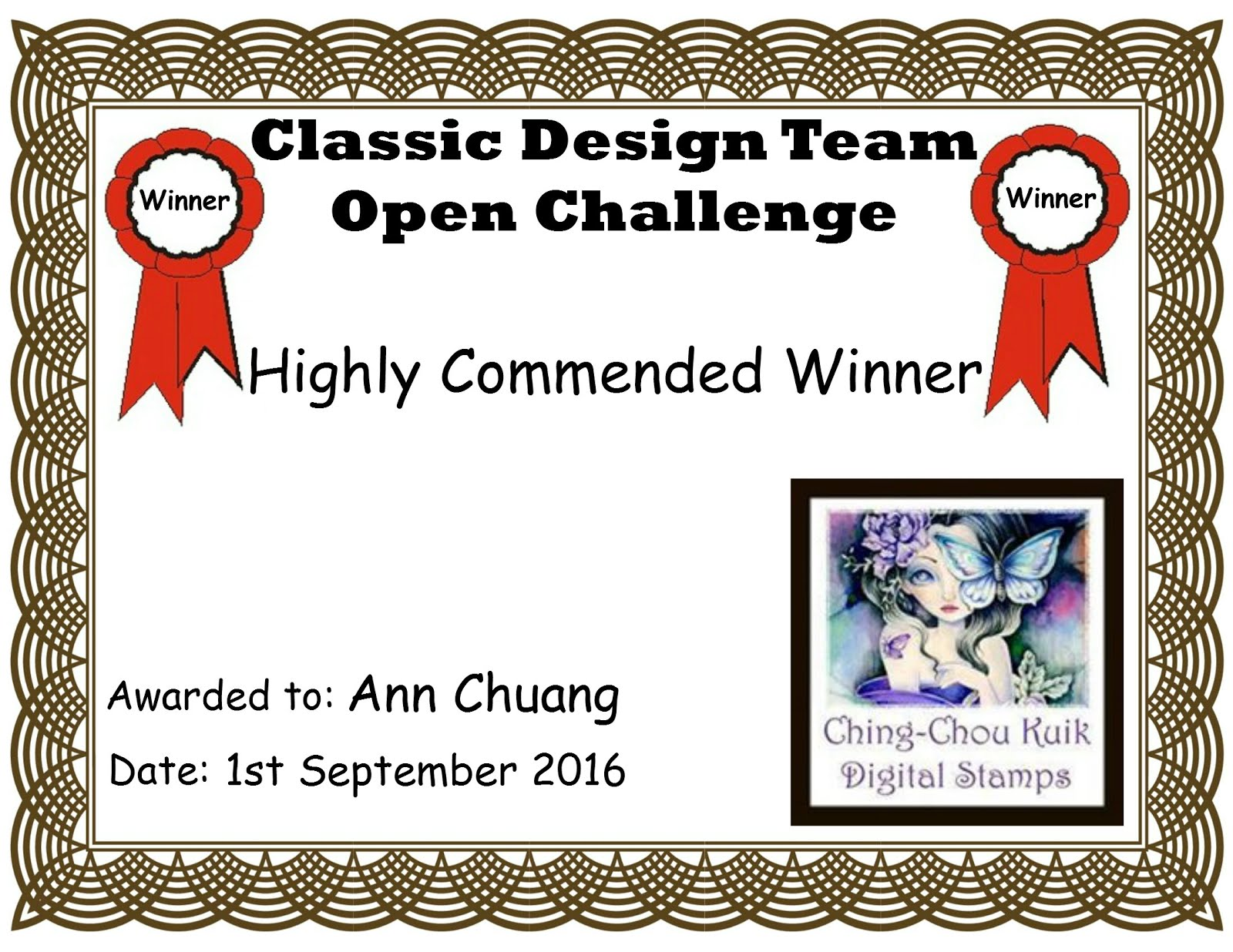 Classic Design Team Open Challenge Highly Commended Winners