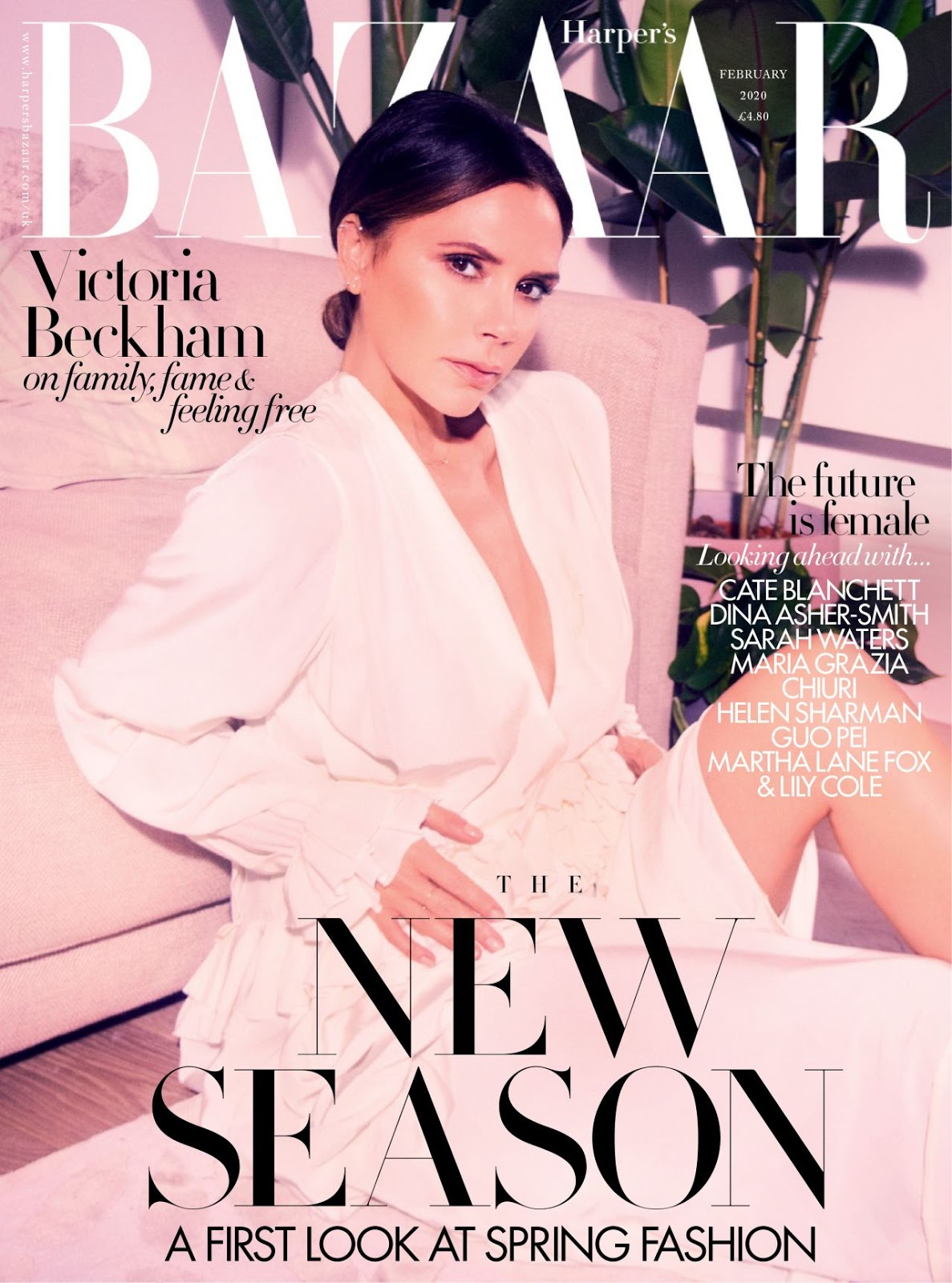 Victoria Beckham Covers Harper's Bazaar UK February 2020