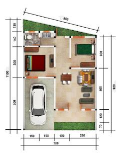 Floor Plan Unit C5 | Rumah Cluster Baru TERMURAH Dekat Pajak Melati Flamboyan Raya Simpang Pemda Medan | Promo 285 Juta