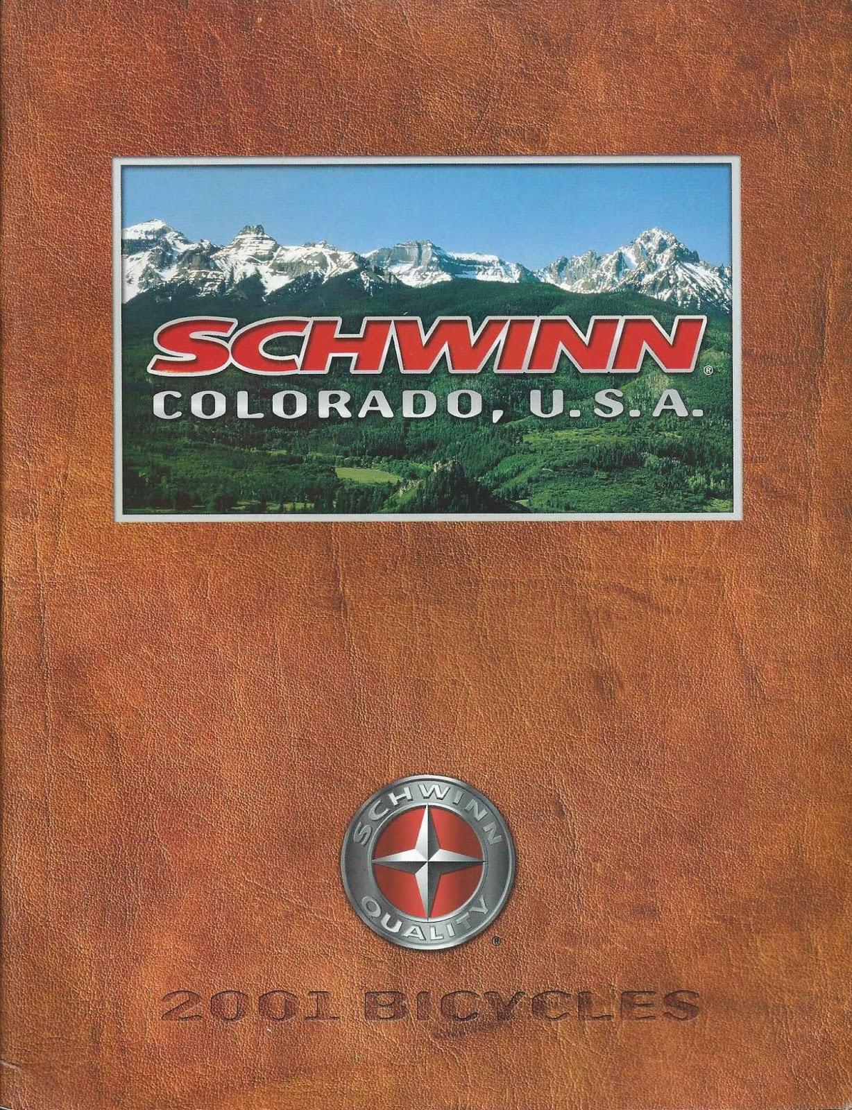 The Old Bike Shop: 2001 Schwinn catalog