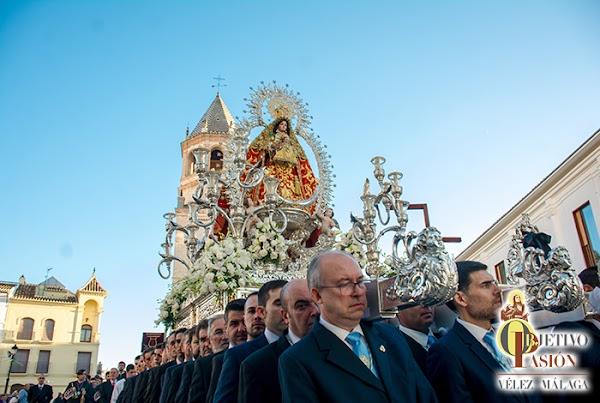 Horario e Itinerario Virgen de los Remedios Coronada, patrona del municipio de Vélez-Málaga. Sábado 09 de Noviembre del 2019