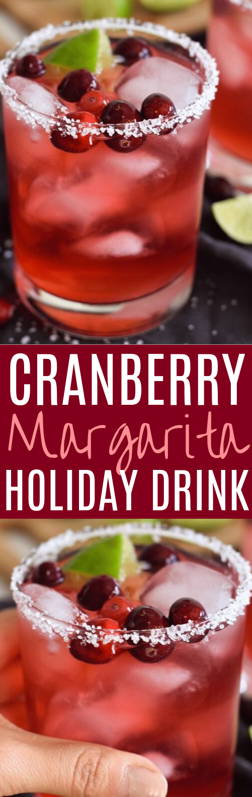 Easy Cranberry Margarita #drinks #alcohol