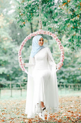jual hijab wedding kreasi hijab wedding model hijab untuk wedding model hijab wedding 2015 pre wedding hijab casual