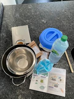 Ustensiles et ingrédients pour réalisation du détachant