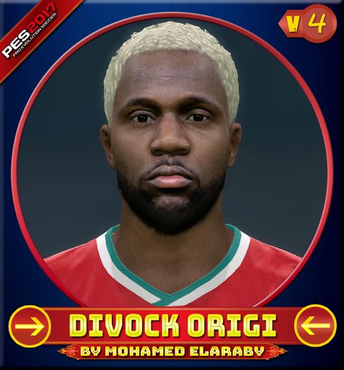 Divock Origi Face V.4 (Last new look) Liverpool FC Player - PES 2017