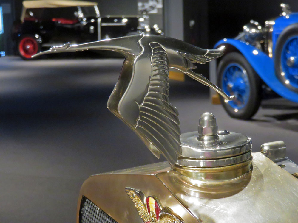 Flying stork radiator cap.