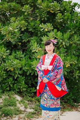 沖縄 琉装 着付け 写真撮影 ロケーションフォト