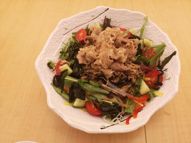 Beef Kinoko Salada with Carpaccio Dressing