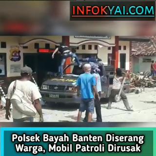 Polsek Bayah Banten Diserang Warga, Mobil Patroli Dirusak ...