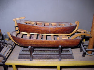 life boats on the HMS Bounty model ship created by Jan Duyn