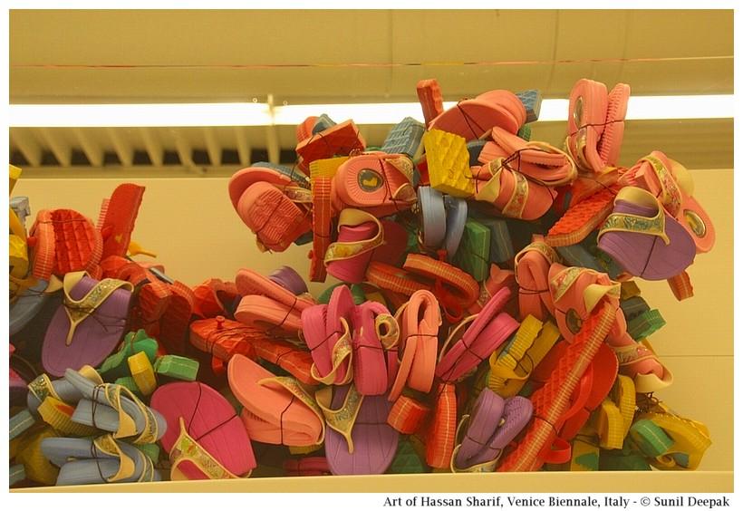 Art of Emirates artist Hassan Sharif at Venice Biennale - Images by Sunil Deepak