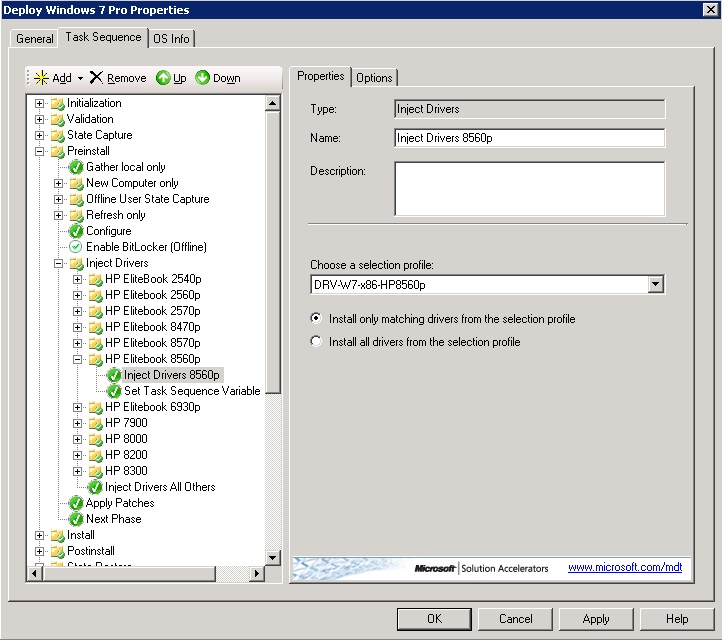 Wise Jeff: MDT 2012 - Drivers using selection profiles