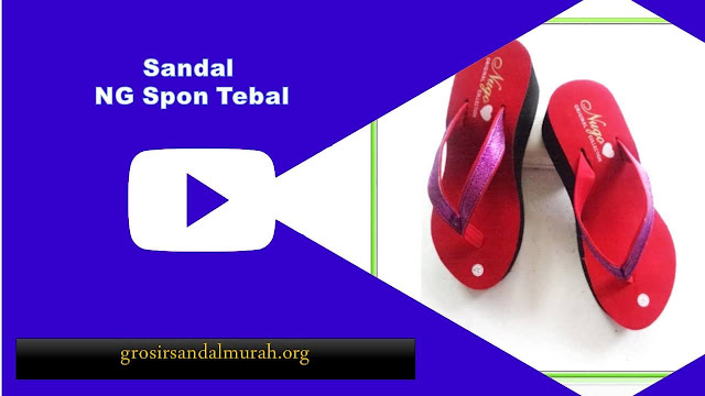 Grosirsandalmurah,org - Wedges - Sandal NG Spon Tebal