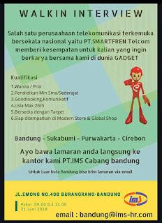 Lowongan Kerja PT IMS Bandung Terbaru 2019