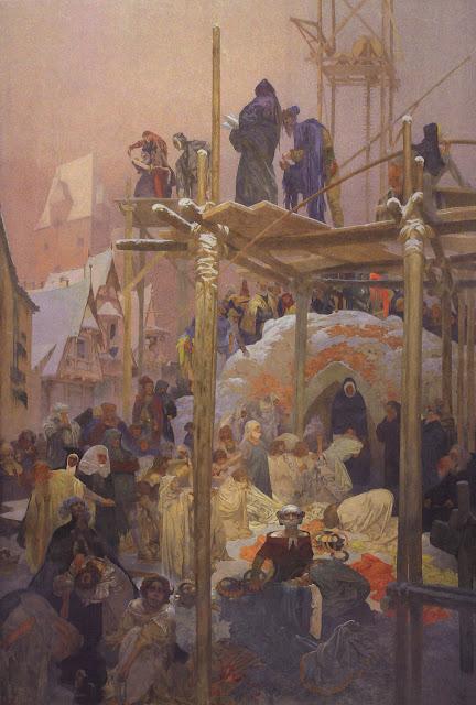 Альфонс Муха - Славянский эпос. Ян Милич из Кромержиржа, 1916