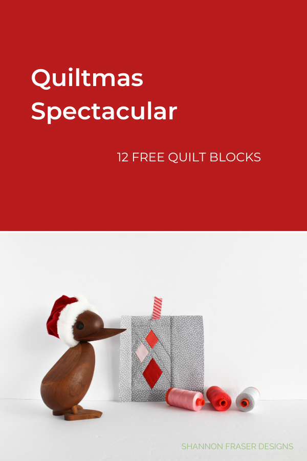 Day 5 Guiding Lights quilt block for Quiltmas Spectacular | Shannon Fraser Designs #holidays #christmas #modernquiltblock #quiltmasspectacular