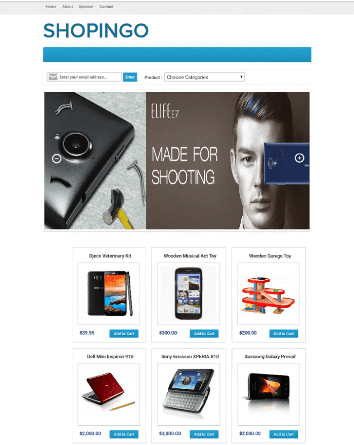 Shopingo Business Blogger Template