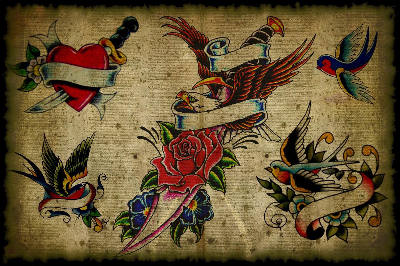 traditional tattoo flash wallpaper - photo #2