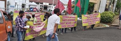 Massa GERAM Tuntut Dugaan KKN di Dinas SDA Lampung