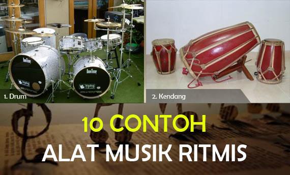 10 Contoh Alat Musik Ritmis Gambar Dan Keterangannya Adat