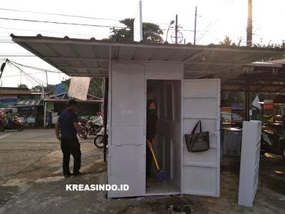Servis dan Ngecat Booth semi Container di Perempatan Hek Pertanian Cipayung