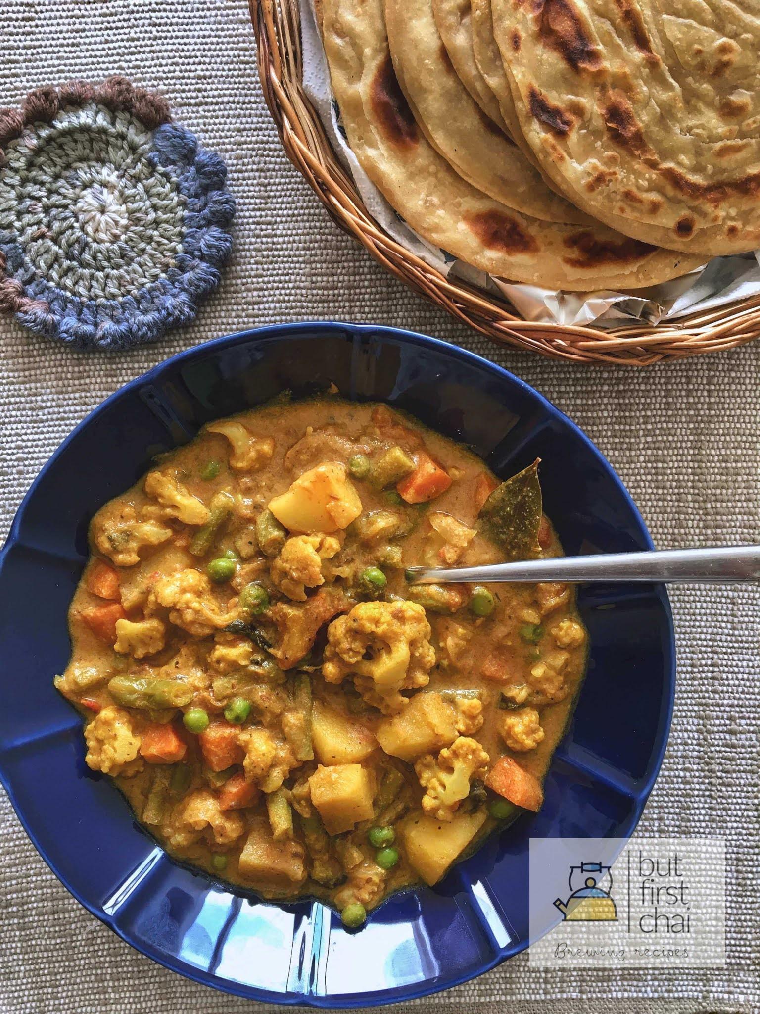 Tamil Nadu Style Mixed Vegetable Kurma