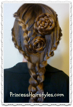 Peachy Lace Braid Rose Hairstyle For Long Hair Hairstyles For Girls Short Hairstyles Gunalazisus