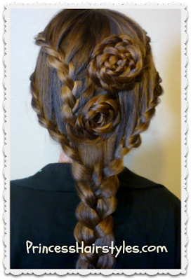 Lace Braid Roses Hairstyle