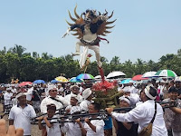 Mendekati Nyepi, 6 Ogoh-ogoh Dikirab Keliling Kota Serang