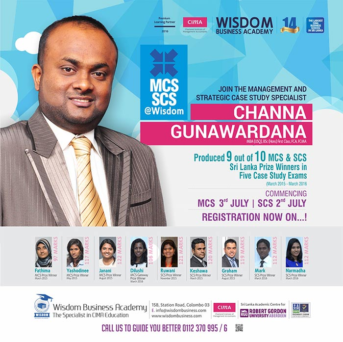 """Join the MCS and SCS specialist Channa Gunawardana @ WISDOM """" Registrations NOW ON"""