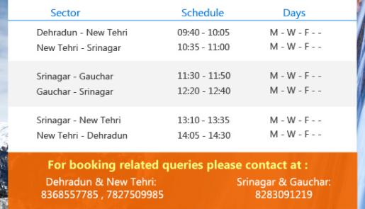 dehradun to gauchar helicopter booking