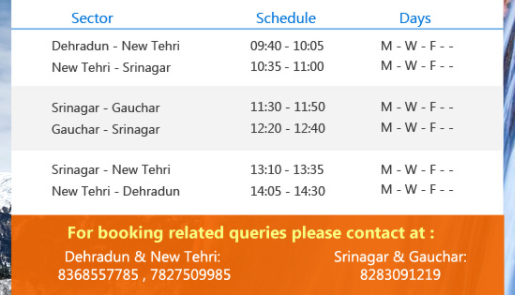 Dehradun to Gauchar Helicopter Booking, Pricing and Route