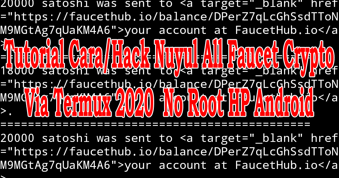 Tutorial Cara/Hack Nuyul All Faucet Crypto nuyul/hack situs web mining Faucet Bitcoin faucet dogecoin ethereum litecoin Free Unlimite claim