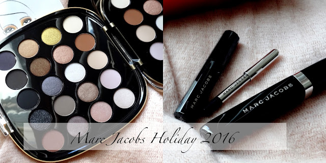 Marc Jacobs Holiday 2016 | About Last Night Style Eye Con No.20 Eye Shadow Palette, About Lash Night 3-Piece Macara and Eyeliner Collection