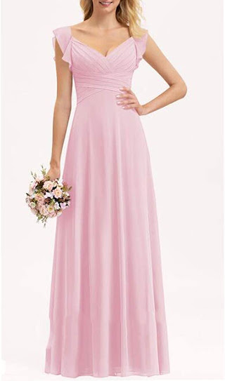 Beautiful Pink Chiffon Bridesmaid Dresses