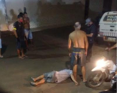 Homem é alvejado na perna ao atentar contra populares e PM's em Poção de Pedras