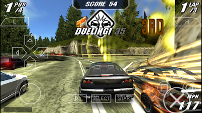 تحميل لعبة Burnout Legends لأجهزة psp ومحاكي ppsspp