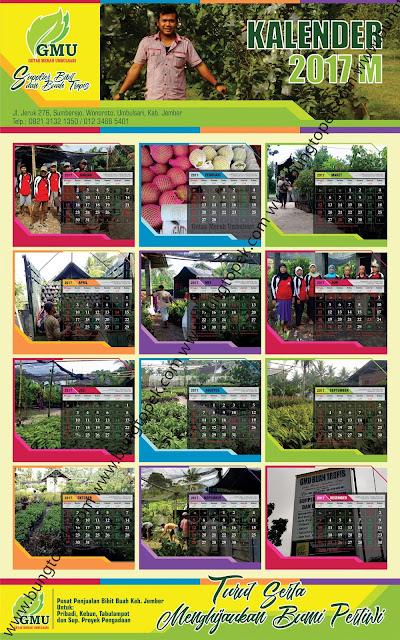Kalender 2017 GMU Umbulsari, Jember
