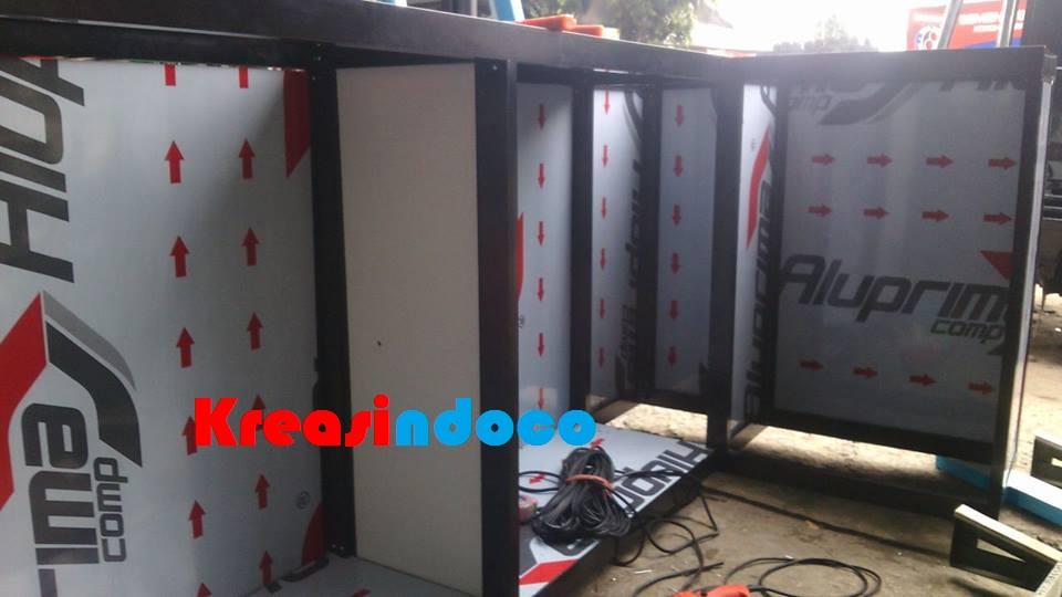 Progres Pembuatan Kitchen Set Aluminium Kombinasi Acp Di Workshop