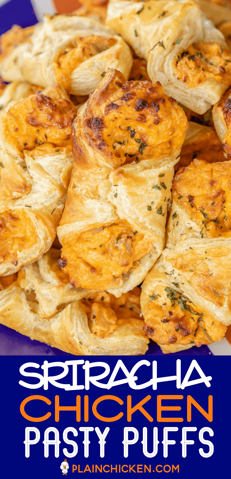 chicken pastry puffs on a platter