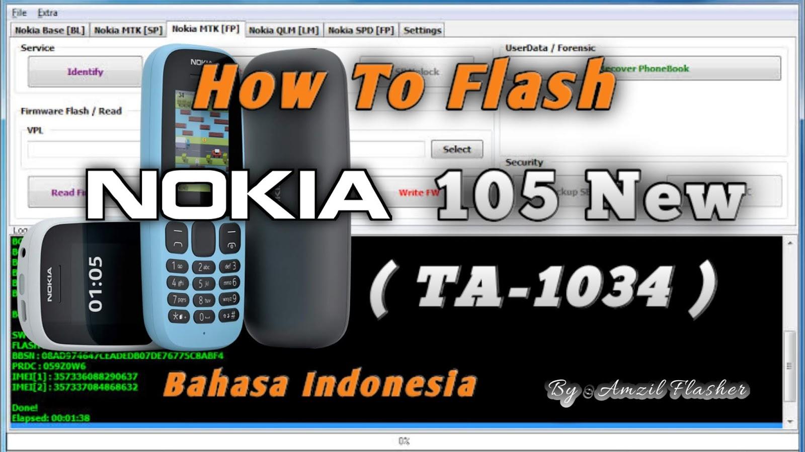 Cara Flash Nokia 105 New  Ta