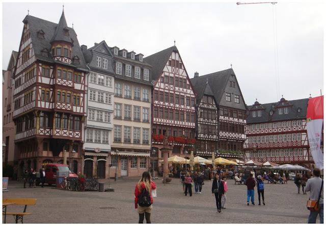 principal praça de Frankfurt, Alemanha