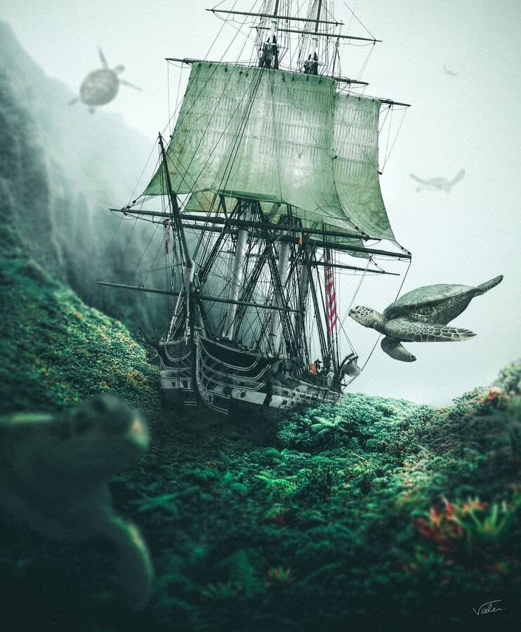 02-Pirate-ship-and-flying-turtles-Benny-Productions-www-designstack-co
