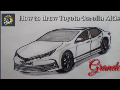 How to draw Toyota Corolla