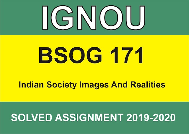 BSOG-171 INDIAN SOCIETY IMAGES AND REALITIES