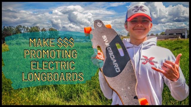 Make Money Promoting These Electric Longboards Through Amazon Affiliate/Influencer Programs