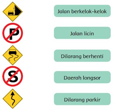 Pasangkan simbol rambu-rambu lalu lintas www.simplenews.me