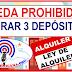 Queda prohibido cobrar EL FAMOSOS 3 DEPÓSITOS en La nueva Ley de alquiler de viviendas en la República Dominicana
